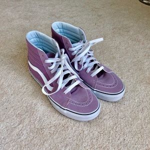 Vans lilac high top tennis shoes
